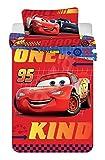 DP Disney Baby Bettwäsche 100x135 cm, Kissen 40x60 cm 100% Baumwolle (Cars Rot)