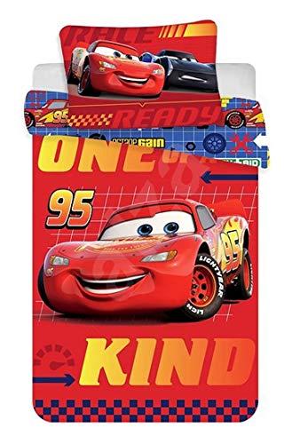 DP Disney Baby Bettwäsche 100x135 cm, Kissen 40x60 cm 100% Baumwolle (Cars Rot) (Cars Baby Bettwäsche)
