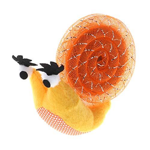 Yanhonin Katzenspielzeug, Schnecke in Katzenform, interaktive Katzenspielzeug, Kratzspielzeug aus Plüsch Orange