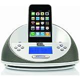 JBL On Time Petite Enceinte Audio avec Station d'Accueil pour iPhone 3G, 3GS, 4, 4S, iPod Touch 4 and iPod Nano 6 - Blanc - Livré avec Prise Française et Anglaise