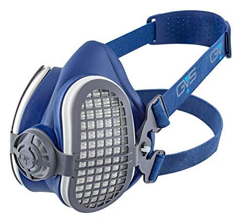 Elipse SPR502 P3 Schweißeratemschutz-Halbmaske gegen Staub und unangenehme Gerüche, Filter bereits befestigt, M/L, Blau -
