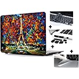 "Go Crazzy Macbook Air 13"" 13.3 Inch New Art Fashion Image Series Ultra Slim Light Weight Rubberized Hard Case Cover +12pcs Dust plug + Touchpad Protector for MacBook Air 13 Inch (Model: A1369 and A1466)"