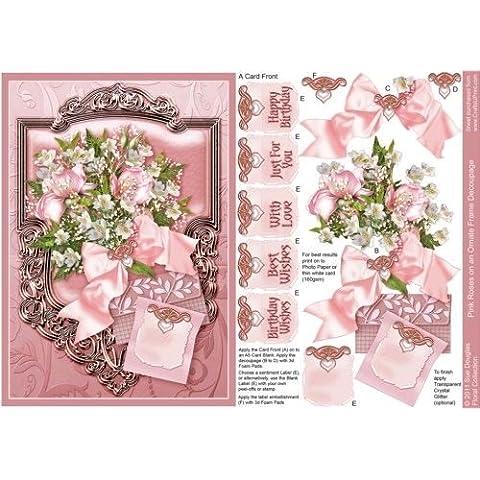 De rosas ramo de flores en un conjunto de tiradores para collage marco de de fotografía a color Douglas