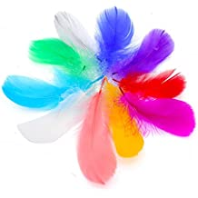 IEUUMLER 500 Piezas Plumas Manualidades De Colores,3-5 IE016 (500PCS