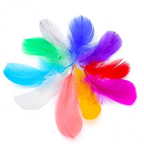 "IEUUMLER 500 Piezas Plumas Manualidades De Colores,3-5 '' IE016 (500PCS-3""-5"")"
