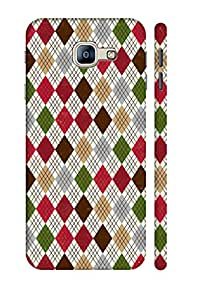 SRS Lines At 3D Back Cover for Samsung Galaxy A8 2016