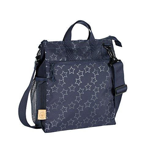 LÄSSIG Baby Kinderbuggytasche Buggy Tasche Kinderwagentasche Aufbewahrungstasche Reißverschluß Kinderwagen inkl. Kinderwagenbefestigung/Casual Buggy Bag, Reflective Star, blau