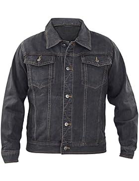 Nuevo hombre de mezclilla regular en forma de bolsillo pecho 100% algodón botón de verano chaqueta casual