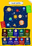 EkDali Solar System Poster for Classroom Home Wall room Décor A3 11.7 by 16.5 inches, ideal gifts for children/ kids , from Ekdali.com. Fun and Vibrant way to teach about the solar system to kids