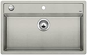 BLANCO dalago 8, évier de cuisine évier de granit en SILGRANIT PuraDur, 1pièce, gris 520546