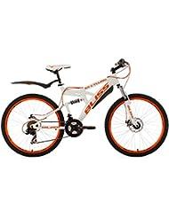 """KS Cycling Bliss VTT tout suspendu 26"""" Orange TC 47 cm"""