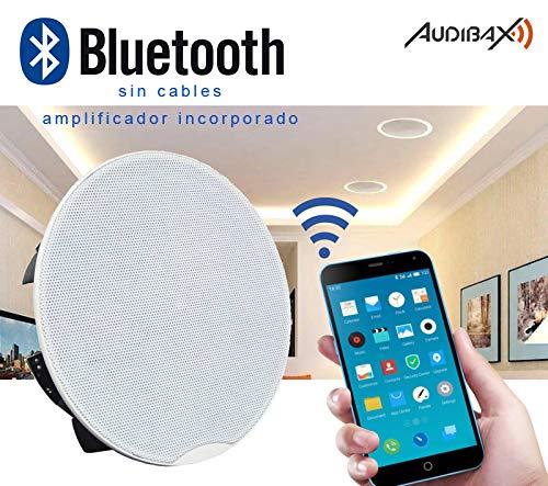 "Audibax CM508-BT Bluetooth Pareja Altavoces Empotrable Techo 30W 5,25"" Rejilla Magnetica"