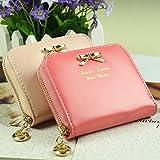 Fashion Women Lady Faux Leather Wallet Purse Card Holders Mini Handbag (Watermelon)