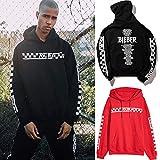 douleway Sweat-Shirt à Capuche Homme, Unisexe Hoodie Manches Longues Pulls Imprimé Bieber Tour Garçon Sweats à Capuche