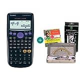 Casio FX-82DE Plus + Geometrie-Set + Lern-CD (auf Deutsch)