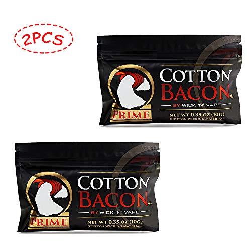 Cotton Bacon von Wick 'N' Vape V2 für Selbstwickelverdampfer Zerstäuber Watte Selbstwickler Verdampfer E Zigarette Zubehör-2 Pack