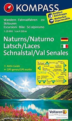 Carta escursionistica n. 051. Naturno, Laces, Val Senales-Naturns, Latsch, Schnalstal 1:25.000: Wandelkaart 1:25 000