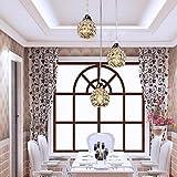 Retro clásico moderno de cristal de Murano, arte creativo arte de hierro minipendant arañas de cristal, lámparas de techo, lámparas de araña de cristal-117 blanca cálida iluminación-220-240V