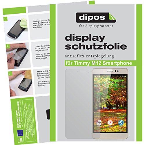 dipos Timmy M12 Smartphone Schutzfolie (2 Stück) - Antireflex Premium Folie matt