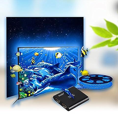 CroLED TV-Umgebungslicht RGB Lichterkette Smart LED Streifen TV Backlight automatische