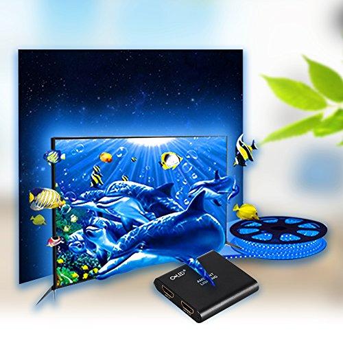 CroLED TV-Umgebungslicht RGB Lichterkette LED Streifen TV Backlight aotomatische Farbwechsel mit TV-Hintergrundbeleuchtung 5 M AC100-240V