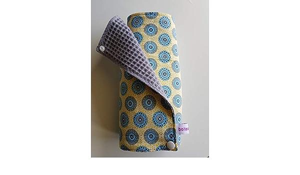 Essuie tout lavable Z/éro d/échet 5 carr/és en tissu coton motifs rosaces mandala et coton nid dabeille