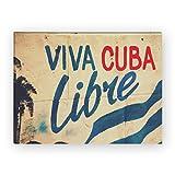 Wandkings Leinwandbild Viva Cuba Libre / 40 x 30 cm / auf Keilrahmen
