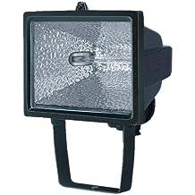 Au/ßenstrahler IP54 gepr/üft, Kabell/änge 2m, 400 Watt Farbe stabiles Flutlicht ideal als Baustrahler schwarz Brennenstuhl Halogenstrahler mit Stativ