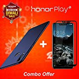 Like It Grab Itlike It Grab It Honor Play Back Cover Case COMBO OFFER , [Full Coverage] 4 Cut Rubberised Matte Hard Case All Sides Protection 360 Degree Sleek Back Cover For Huawei HonorPlay + 5D Edge To Edge Tempered Glass Screen Protector For Honor Play