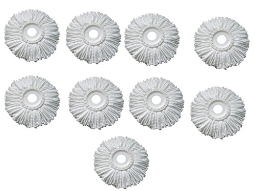 Pack of 9 Replacement Head Refill for 360 Rotating Easy Spin Mop Cleaner Duste  available at amazon for Rs.599