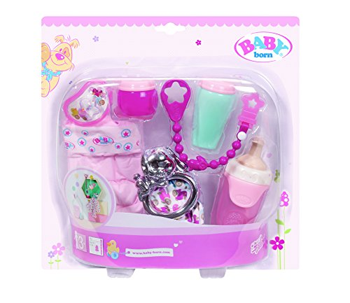 Zapf Creation 822173 - Baby Born, Set de Accesorios, Color de Rosa
