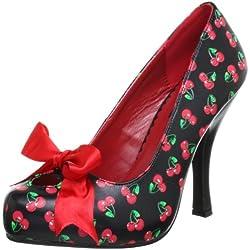 Pleaser EU-CUTIEPIE-06 - Zapatos de tacón de material sintético, mujer, color Negro