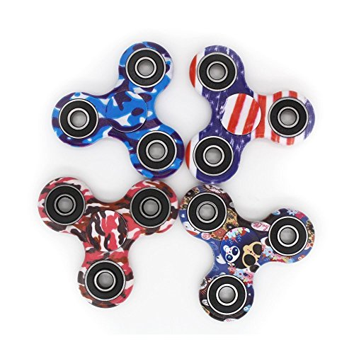 Hand Spinner Toy, Multicolor Camouflage Tri-Spinner Fidget Toy for Stress and Anxiety Relief – EDC Office Toy (C) - 6