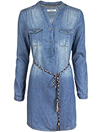 Hailys Damen Jeanskleid Hemdblusenkleid Longshirt Tunika 15ef2bfcc5