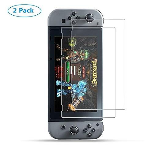 Nintendo Switch Schutzfolie Anti-Fingerabdruck-HD-Bildschirm-Schutzfilter Film Anti-Bubble-PET-Film für Nintendo Switch (2