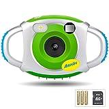 cámara para niños, AMKOV 1.44 pulgadas pantalla marco foto cámara digital para niños con tarjeta SD y baterías (verde)