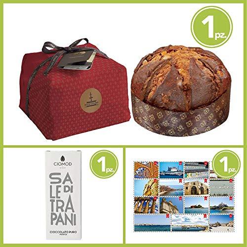 Ready for xmas | 1 panettone fiasconaro | 1 barretta cioccolato | 1 cartolina ®welcome sicily (tradizionale)