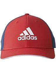 adidas Lightweight Climacool Flexfit Gorra de Golf, Hombre, Rojo / Azul, L/XL