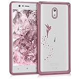 kwmobile Nokia 3 Hülle - Handyhülle für Nokia 3 - Handy Case in Rosegold Transparent