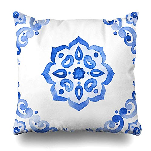 Gxdchfj Dekorative Kissen Case Throw Kissens Covers for Couch/Bed 18 x 18 inch,Watercolor Nautical Anchor Floral Bouquets Hand with Home Sofa Cushion Cover Kissencase Gift Bed Car Living Home -