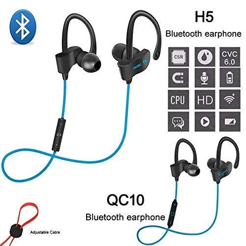 LIMESHOT QC10 Bluetooth Earphone Wireless Headphones for Mobile Phone Sports Stereo Jogger,Running,Gyming Bluetooth Headset Compatible with All Gadgets(Multicolour) Image 4