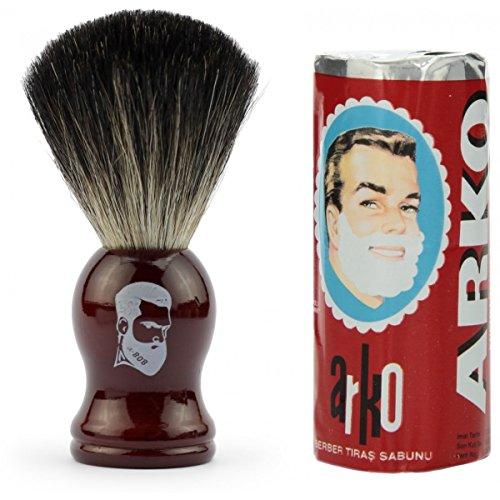 rusty-bob-brocha-de-afeitar-tejon-de-afeitar-plata-punta-conjunto-de-afeitar-tejon-cromo-arko-afeita