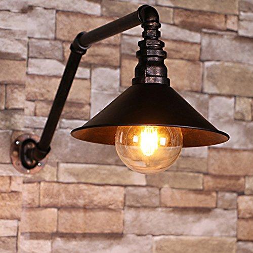 Vintage Wandleuchte, Frideko Retro-Stil Industrie Wandlampe Dekoration schwarz für Loft Wohnzimmer Esszimmer Cafeteria Restaurant