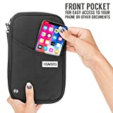 Savisto Multi-Purpose Travel Wallet Organiser | RFID Blocking Passport & Document Holder Inc. Slots & Compartments for Credit Cards, Boarding Passes, Tickets, Keys, Cash & More - Nylon - Black