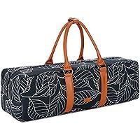 Baosha YG-01 - Bolsa de transporte para esterilla de yoga, con bolsillos de almacenamiento multifuncionales, color Blue Leaf, tamaño Large