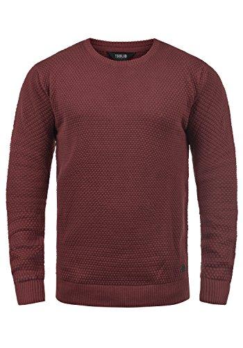 !Solid Karl O-Neck Herren Strickpullover Feinstrick Pullover Mit Rundhals Aus 100% Baumwolle, Größe:M, Farbe:Wine Red (0985)