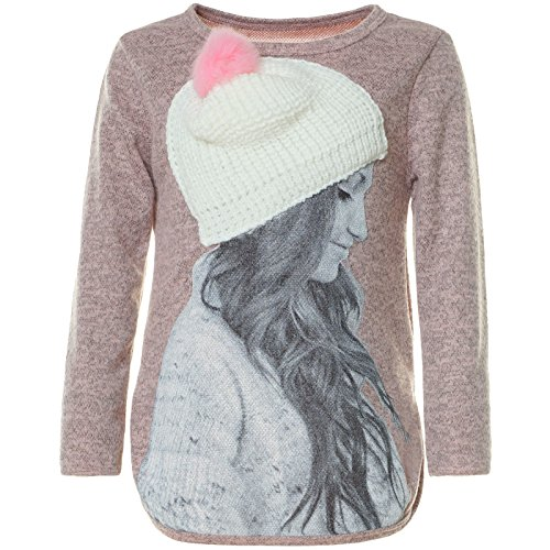 BEZLIT Mädchen Pullover 3D Motive Mütze Pulli Langarm Sweatshirt 21594, Farbe:Rosa,...