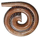 Didgehorn Tonhöhe-D Hartholz Schneckendidgeridoo Snail Didgeridoo Punktbemalung