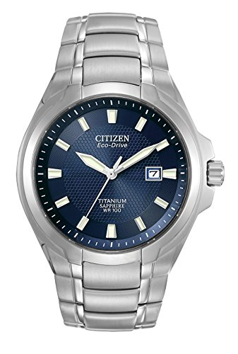 Citizen-Mens-Eco-Drive-Watch-with-Dark-Blue-Dial-Analogue-Display-and-Titanium-Bracelet-BM7170-53L