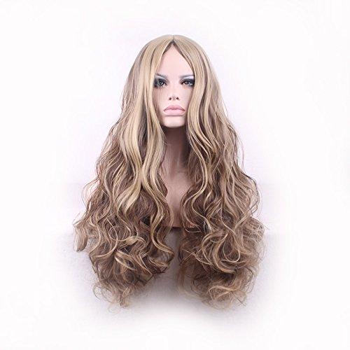Perruque Femme haute température de couleur de gradient de soie de la mode sexy tailler grande vague de longue bouclés cosplay perruque de cheveux